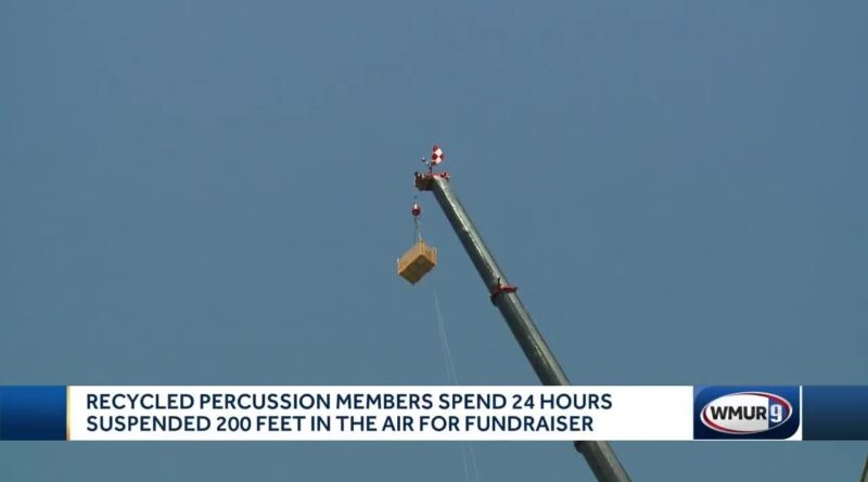 Recycled Percussion members spend 24 hours suspended in ...