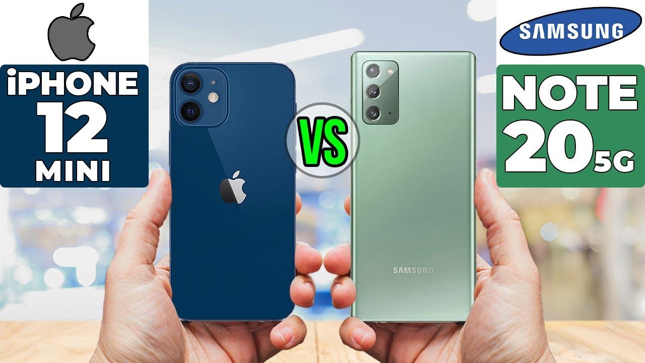 Apple iPhone 12 mini vs Samsung Galaxy Note 20 5G > BENISNOUS