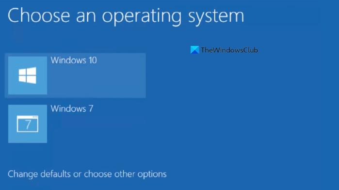 Choose default operating system