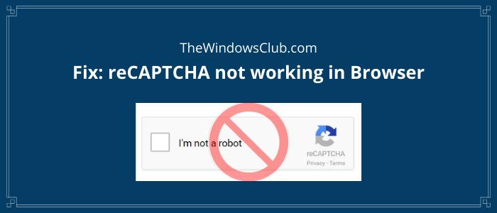 Fix reCAPTCHA not working in browser