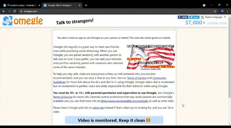 Is it keep omegle clean monitored video All AirVPN
