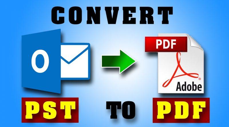 save pst to pdf